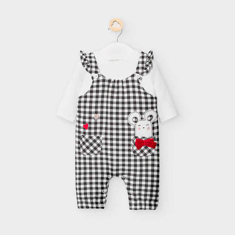 Check Overall Mouse Romper