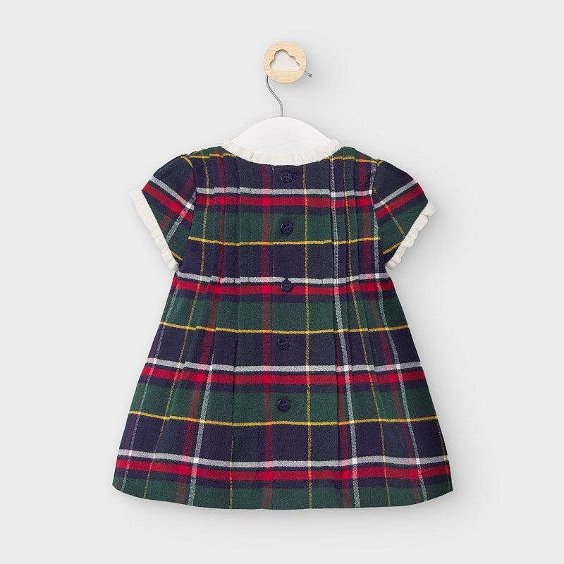 Holiday Plaid Short Sleeve Baby Dress