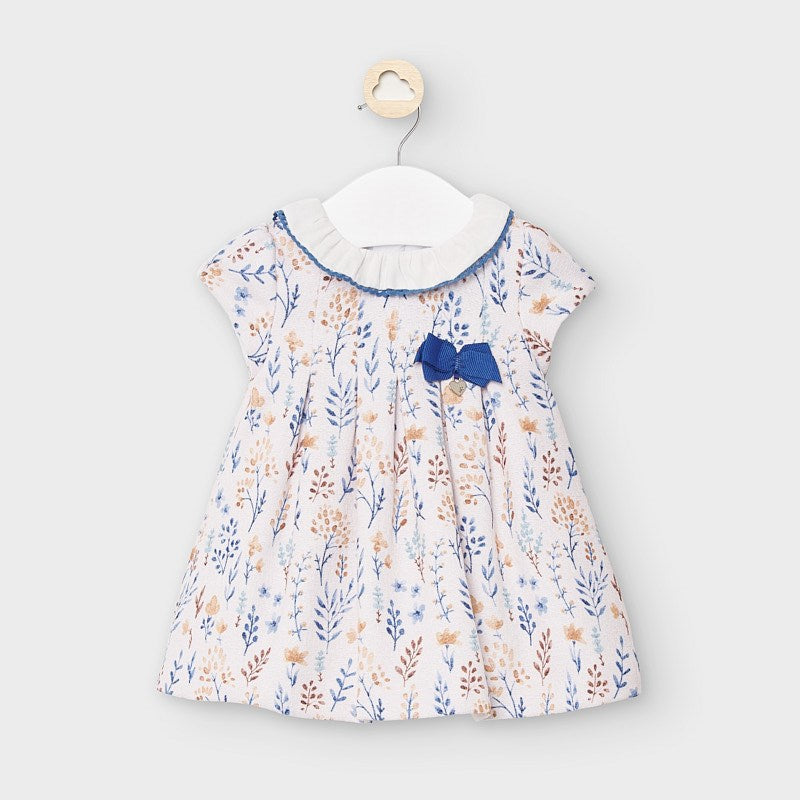 Blue & Tan Floral Dress