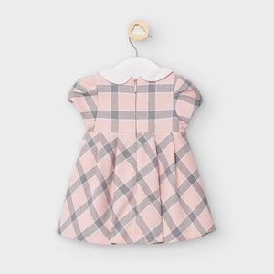 Pink Plaid Short Sleeve Baby Dress