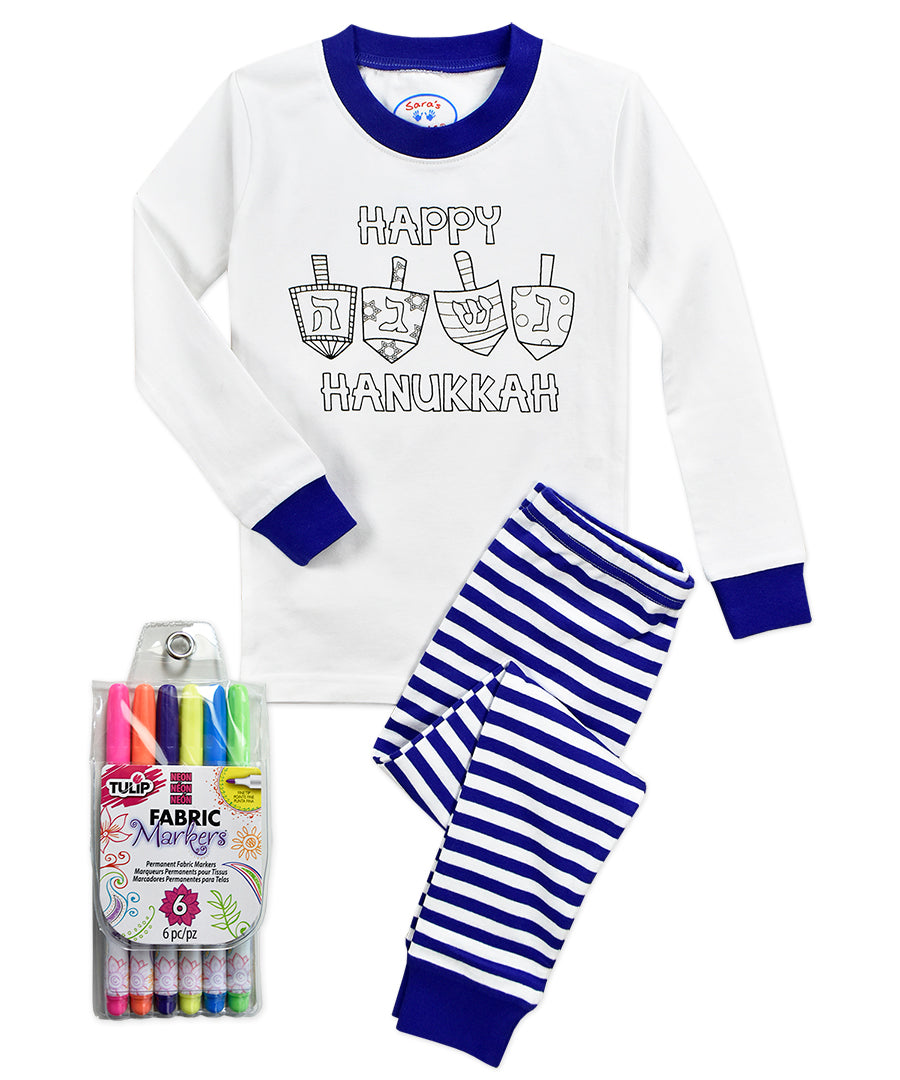Color Me Hanukkah PJ Set