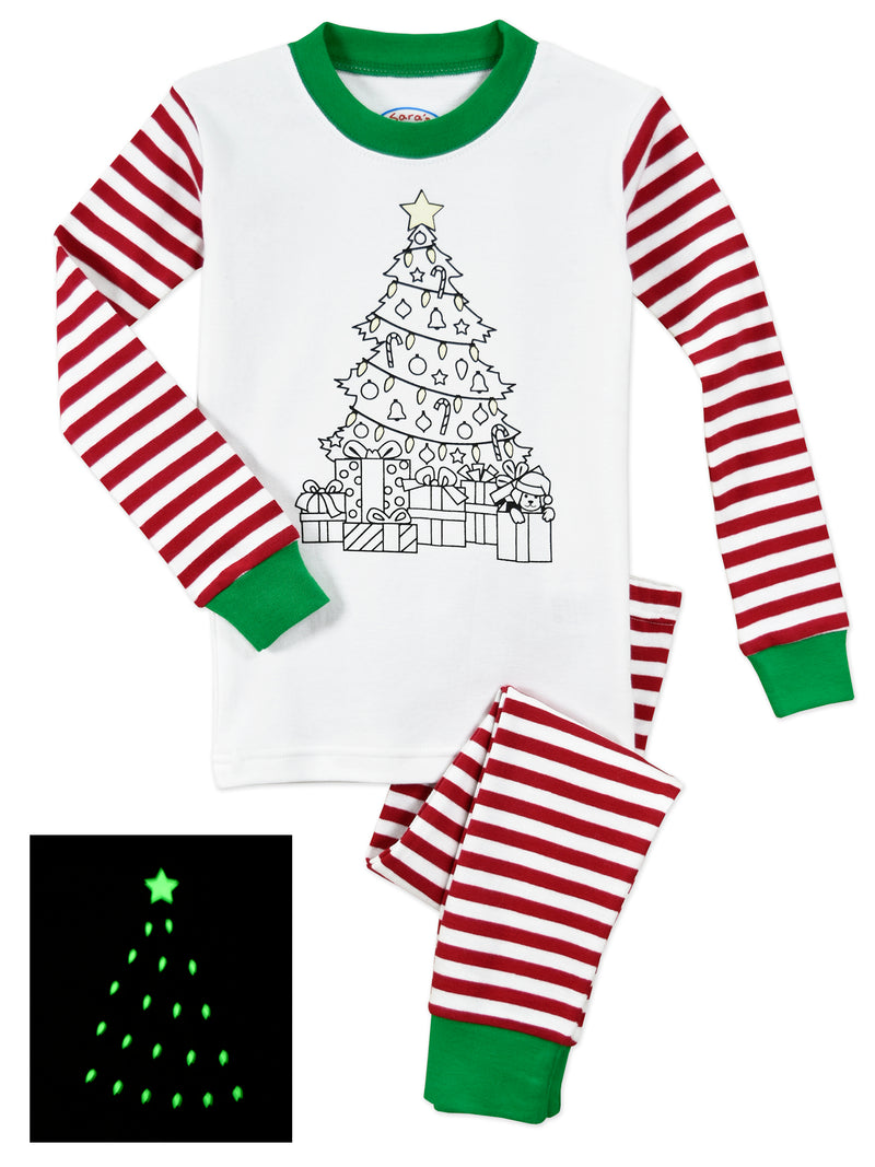 Color Me Christmas Tree PJ Set