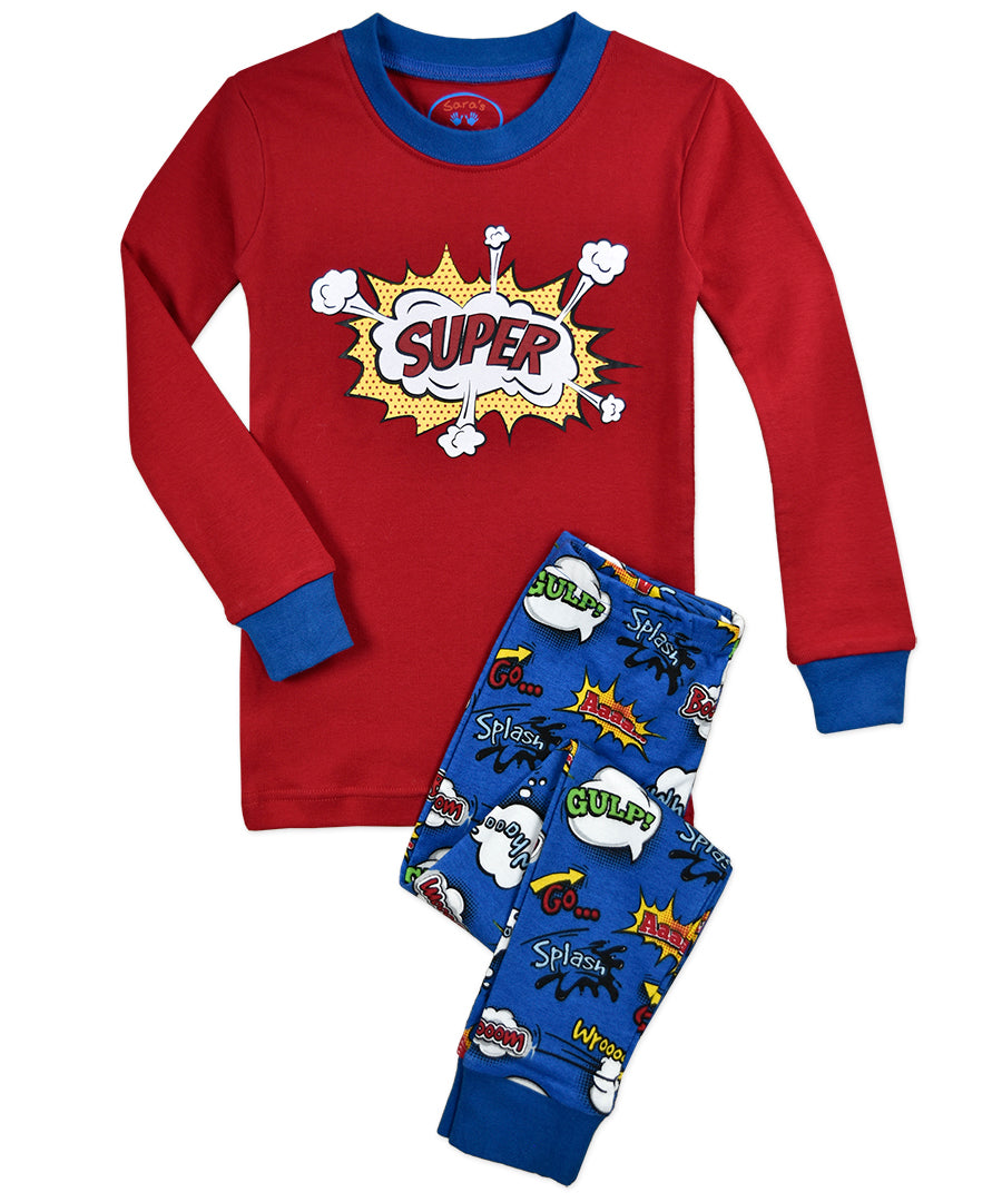 Super Kid Long Johns PJs