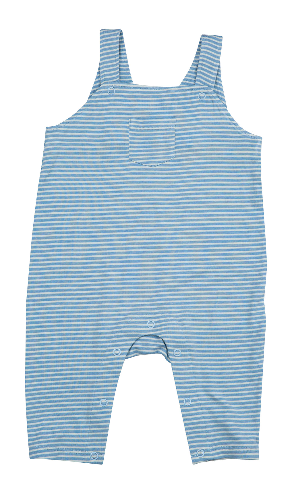 Blue Stripe Pocket Overall