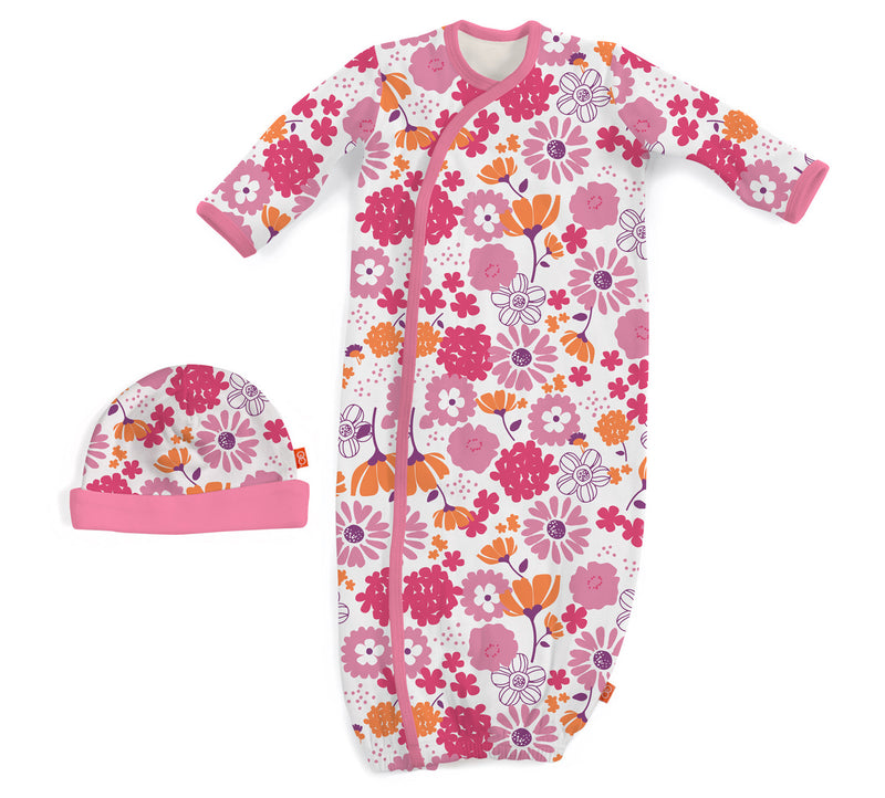 Blossom Du Jour Magnetic Gown & Hat Set (NB-3m)