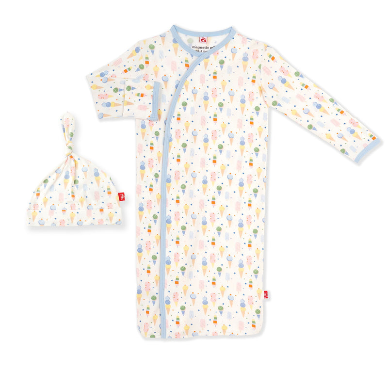 Ice Ice Cream Baby Modal Sack Gown & Hat