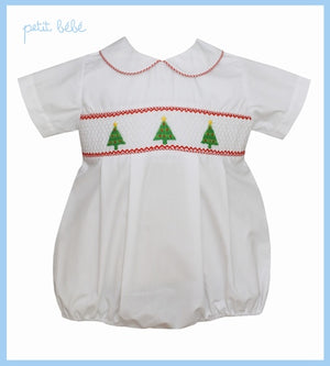 Smocked Christmas Trees Bubble