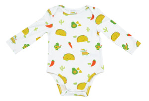 Taco Party Long Sleeve Onesie