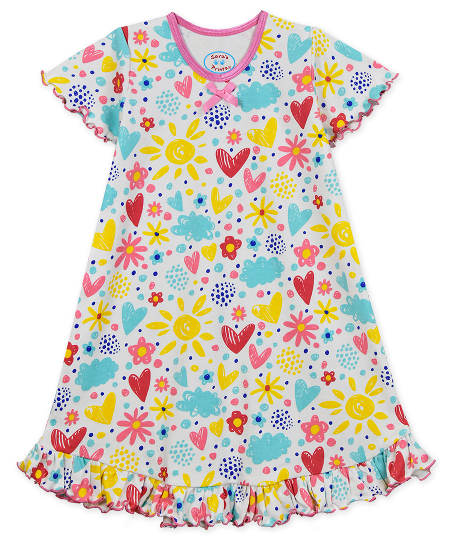 I Love Flowers Nightie