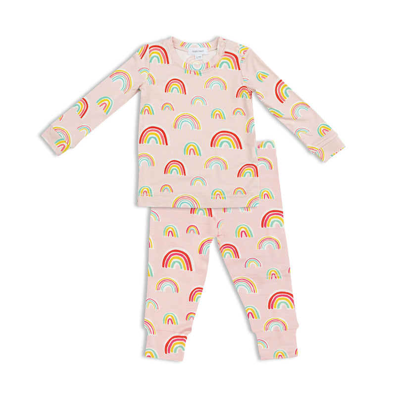 Pink Rainbows Bamboo PJ Set
