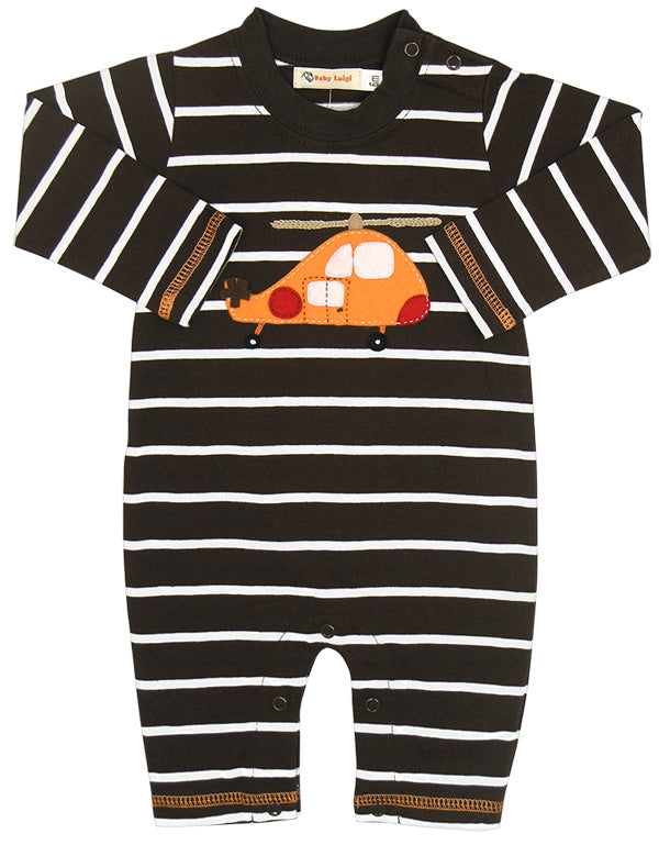 Baby Luigi Copter Striped Coverall