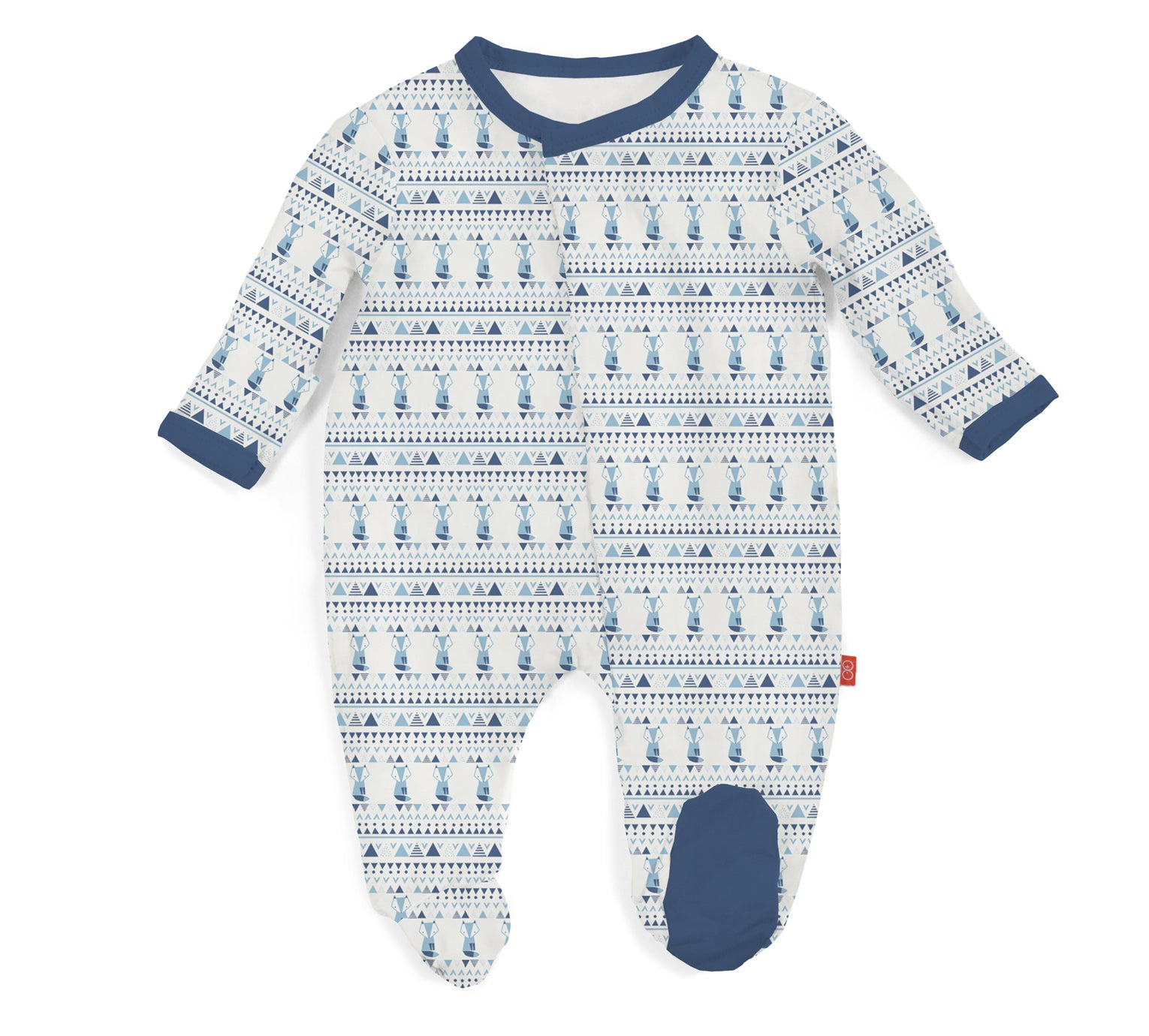 Blue Foxy Fair Isle Modal Magnetic Footie