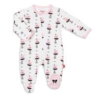 Pink Hippo Organic Cotton Footie