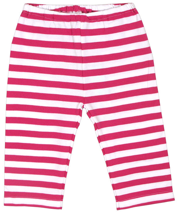 Girls Striped Fucshia & White Pants