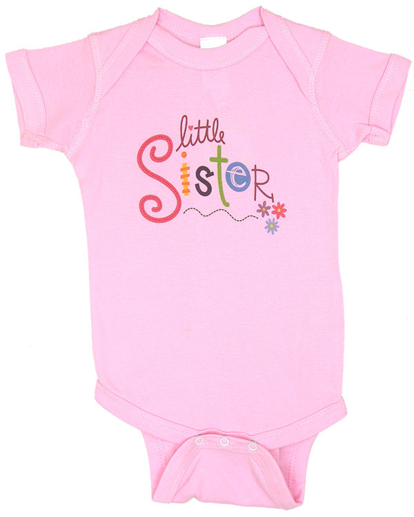 Newborn Girls Little Sister Onesie by Love, Linda