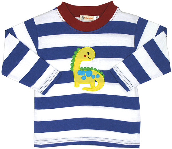 Baby Luigi Infant Striped Dino Shirt