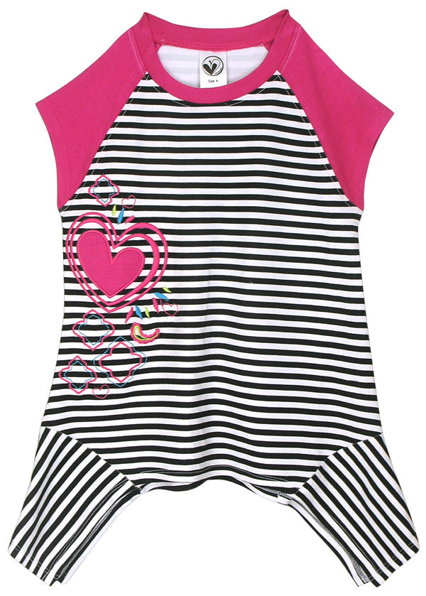 Striped Heart tunic by Limeapple