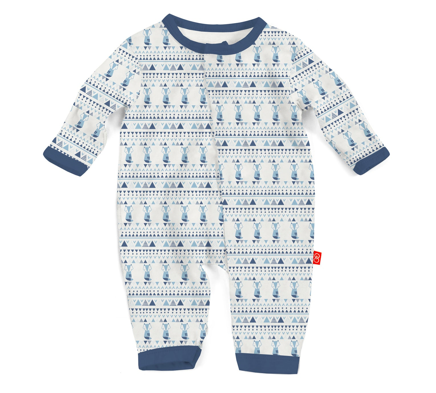 Blue Foxy Fair Isle Modal Magnetic Coverall