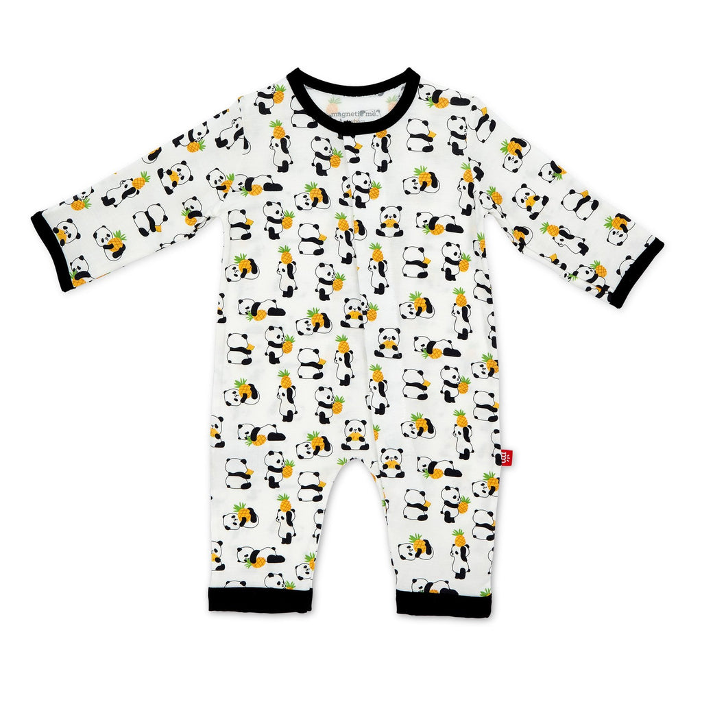 Panda Pineapple Modal Magnetic Coverall