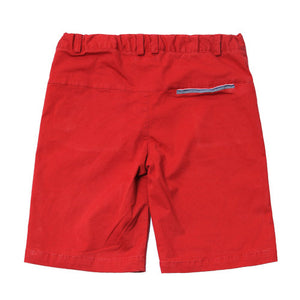 Crimson Brushed Twill Adjustable Waist Short