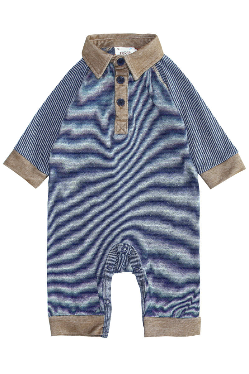 Indigo Mini-Stripe Coverall