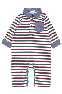 Red & Green Striped Coverall
