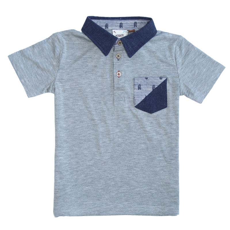 Grey Jersey Pocket Polo