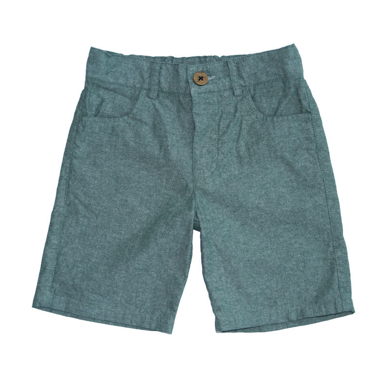 Sage Green Cotton Shorts