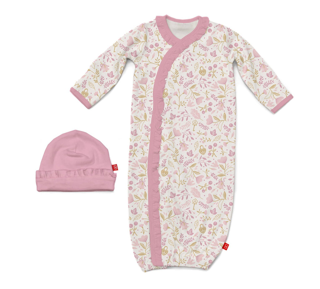Holly Berry Magnetic Gown & Hat Set (NB-3m)