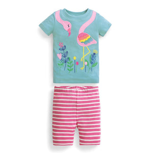 Flamingo Wrap-Around Short Set