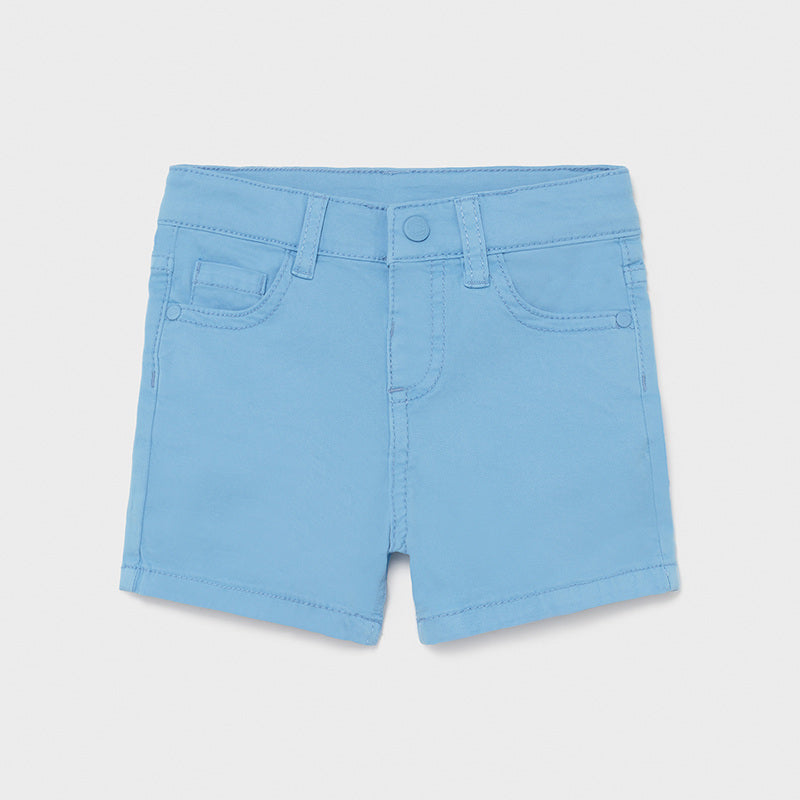 Periwinkle 5 Pocket Twill Shorts