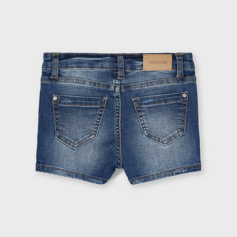 Denim Stretch Shorts