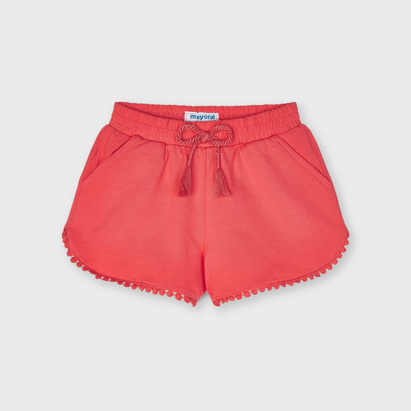 Coral Pom Knit Shorts