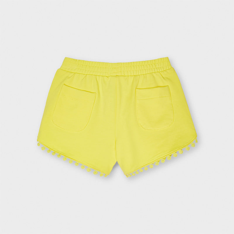 Yellow Pom Knit Shorts