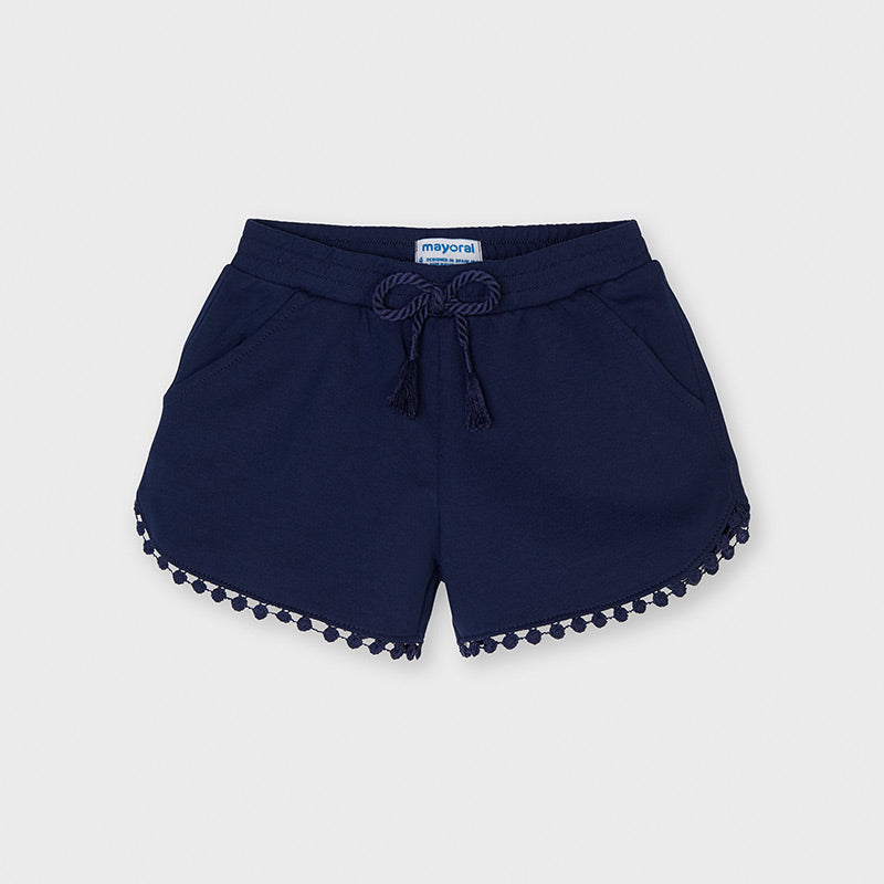 Ink Blue Pom Knit Shorts