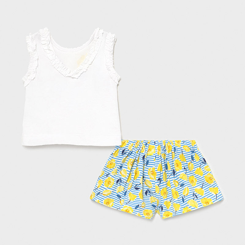 Ducky Tank Top & Floral Shorts Set