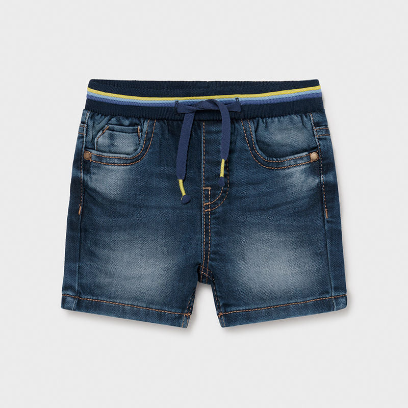 Organic Elastic Denim Shorts