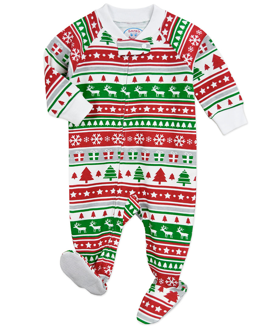 SP Christmas Fairisle Footie Pajamas