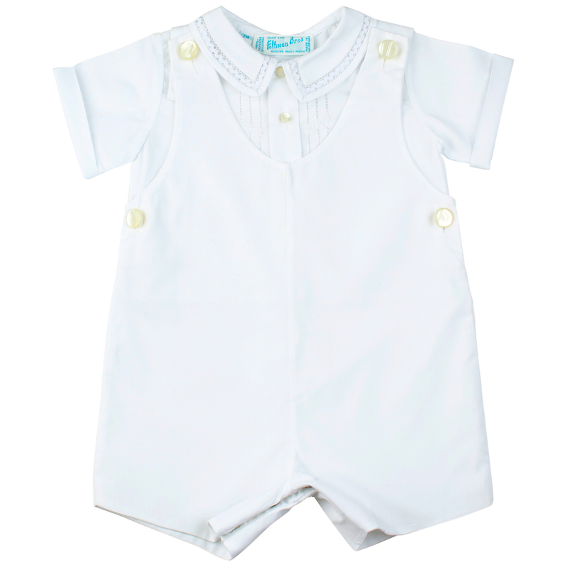 Feltman Brothers White Shirt and Shortall
