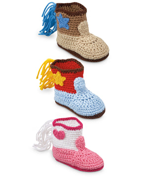NB Crocheted Cowboy Boot Bootie by Jefferies Socks