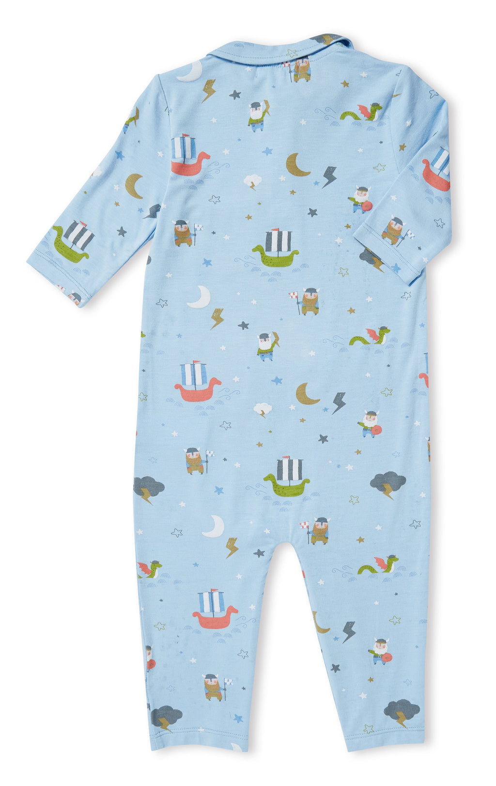Little Viking Knit Polo Coverall