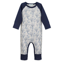 Deer & Apple Trees Sailor Sleeve Romper