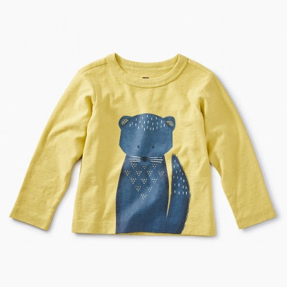 Otter Fisher Long Sleeve Graphic Tee in Lemongrass Yellow