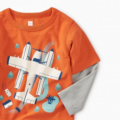 Seaplane Layered Baby Tee