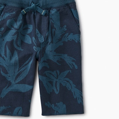 Blue Pattern Cruiser Shorts