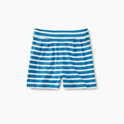 Blue Striped Dock Shorts