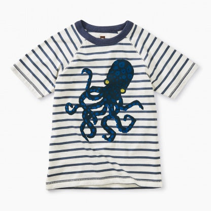 Octopus Navy Striped Graphic Tee