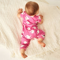 Love Doves Wrap Romper