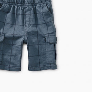 Windowpane Baby Cargo Shorts