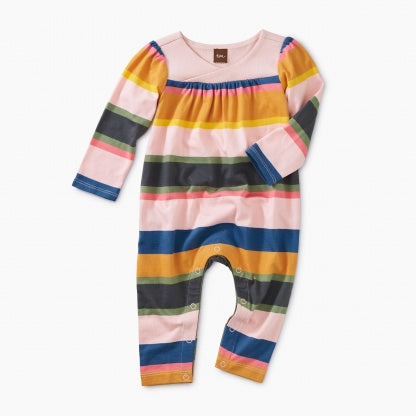 Striped Wrap Neck Coverall